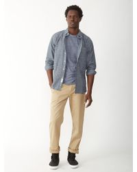 Apolis Japanese Chambray Button Down Shirt - Lyst