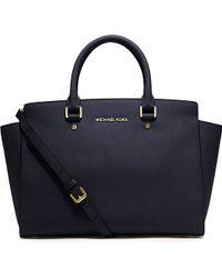 MICHAEL Michael Kors Selma Saffiano Leather Satchel Bag - For Women - Lyst