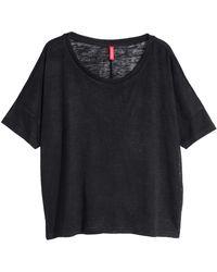 H&M Black Oversized Top - Lyst