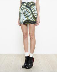 Acne Studios Finger Print Mini Skirt - Lyst