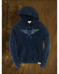 Denim & Supply Ralph Lauren Indigo-Dyed Graphic Hoodie - Lyst