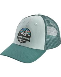 4a9d667db2f05 Lyst - Patagonia Fitz Roy Crest Lopro Trucker Hat in Gray for Men