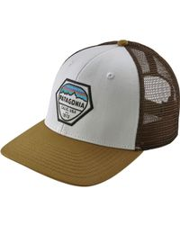 a598efaa782 Lyst - Patagonia Fitz Roy Hex Trucker Hat in Green for Men
