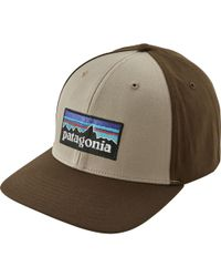 Lyst - Patagonia P-6 Logo Roger That Hat in Blue for Men 3f62c03d5998