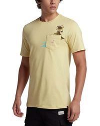 96769f19b9155a Hurley Mens Flamingo Graphic T-shirt in Green for Men - Lyst
