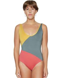 194849e10c8 J.Crew Ruched Bandeau One-piece Swimsuit In Ratti Rio Floral in Blue ...
