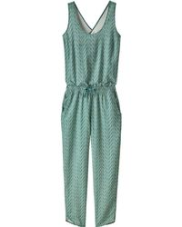497e4dca826 Lyst - Patagonia Fleetwith Romper in Blue