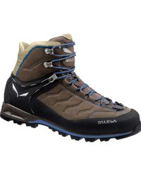 Salewa - Mountain Trainer Mid Leather Backpacking Boot - Lyst