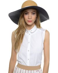 Eugenia Kim Genie Cecily Hat - Camel/Navy - Lyst