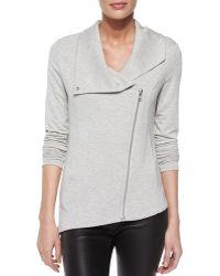 Helmut Lang Villous Front-Zip Jersey Jacket - Lyst