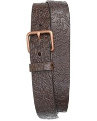 Caputo & Co. - . 'the Bali' Floral Leather Belt - Lyst