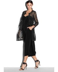 Milly Aztec Fil Coupe Cocktail Coat - Lyst