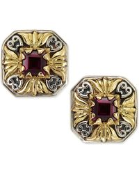 Konstantino Silver  18k Gold Rhodolite Stud Earrings - Lyst