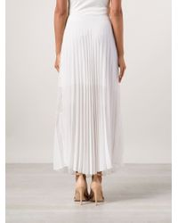Sharon Wauchob - Sheer Patch Pleated Skirt - Lyst