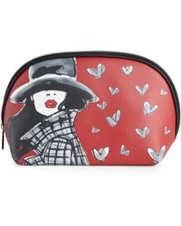 Izak - Red Hearts Large Dome Cosmetic Bag - Lyst