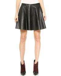 Theory Motivated Merlock Leather Skirt - Black - Lyst