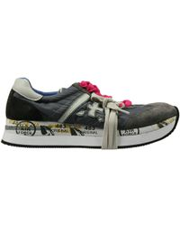 Premiata Sneakers Shoes Conny Bottom Or Sole Or (Zip Al Fondo) Ankle Zip Wedge 4 Cm Suede E Nylon - Lyst