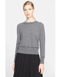 Marc Jacobs Backward Wool & Cashmere Cardigan gray - Lyst