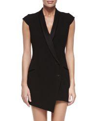 Haute Hippie Asymmetric Blazer Dress with Detachable Skirt - Lyst