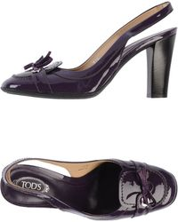 Tod's Purple Court - Lyst