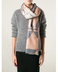 By Malene Birger Checked Scarf - Lyst