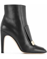 Sergio Rossi - Sr1 Leather Booties - Lyst