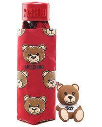 Moschino - Mini ombrello Allover Teddy in nylon - Lyst