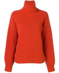 Tory Burch - Inez Wool And Cashmere-blend Turtleneck Jumper - Lyst