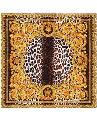 Versace - Wild Baroque-print Silk-twill Scarf - Lyst