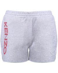 KENZO - Shorts Paris in felpa di cotone - Lyst
