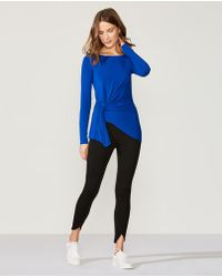 Bailey 44 - Fall For You Gathered Long-sleeve Jersey Top - Lyst