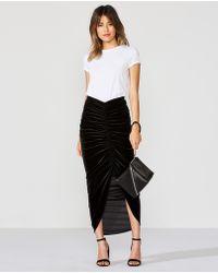Bailey 44 - Any Seven Velvet Skirt - Lyst