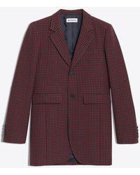 Balenciaga - Shaped Single Breasted Jacket - Lyst