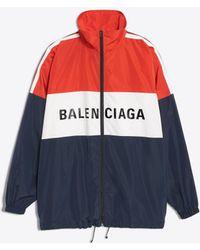 Balenciaga - Zipped Nylon Logo Jacket - Lyst