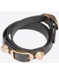 Balenciaga | Giant Gold Bracelet Triple Tour | Lyst