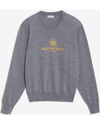 Balenciaga - Embroidery Sweater - Lyst