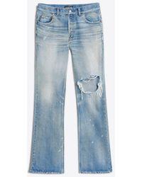 Balenciaga - Bootcut Knee Hole Jeans - Lyst