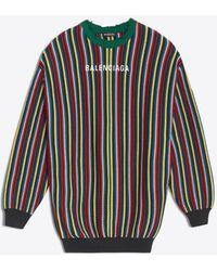Balenciaga - Striped Crewneck - Lyst