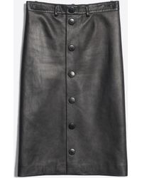 Balenciaga - Snapped Skirt Leather - Lyst