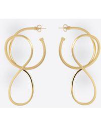 Balenciaga - Circle Elastic Earrings - Lyst