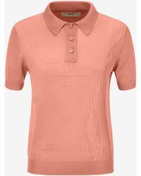 31f848213 Bally Logo-print Cotton-piqué Polo Shirt in Gray for Men - Lyst