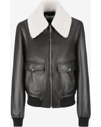 Bally - Nappa Leather Blouson Jacket - Lyst