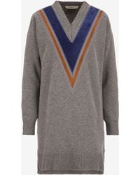 Bally - Knitted V-neck Sweater - Lyst