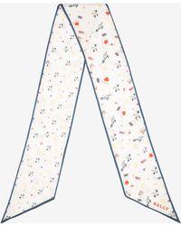 Bally - Playful Edelweiss Print Skinny Scarf - Lyst