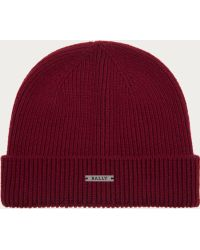 Bally - Wool & Cashmere Beanie Hat Women ́s Knitted Hat In Merlot - Lyst