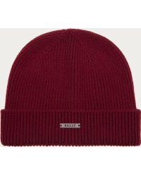 Bally - Wool & Cashmere Beanie Hat Women ́s Knitted Hat In Merlot - Lyst