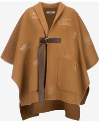 Bally - Logo Patch Embroidered Cape - Lyst