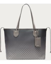 Bally - Bernina Medium Women ́s Canvas Tote Bag In Gray - Lyst