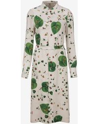Bally - Autumn Leaf Print Dress - Lyst