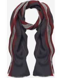 Bally - Stripe Wool Scarf - Lyst